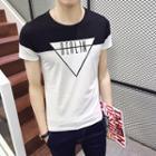 Contrast Colour Block Short-sleeve T-shirt