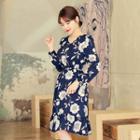 Band-waist Floral Print Dress