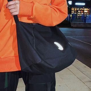 Panda Crescent Canvas Crossbody Bag Black - One Size