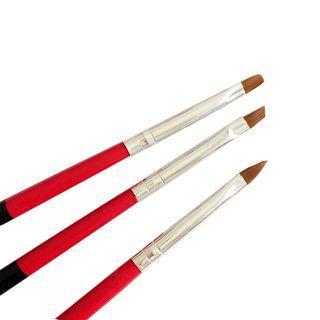 Set Of 3: Nail Art Gel Brush Set Of 3: Gj-134 - One Size