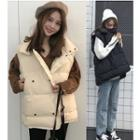 Snap-buttoned Padded Vest
