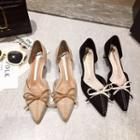 Bow Pointed Toe Dorsay Pumps