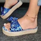 Bow Accent Platform Espadrille Sandals