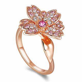 Swarovski Elements Floral Ring