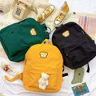 Bear Applique Nylon Backpack