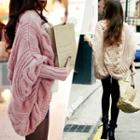 Batwing Cable-knit Cardigan