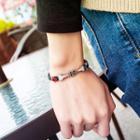 Alloy Star & Arrow Faux Leather Bracelet