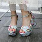 Floral Wedge Sandals