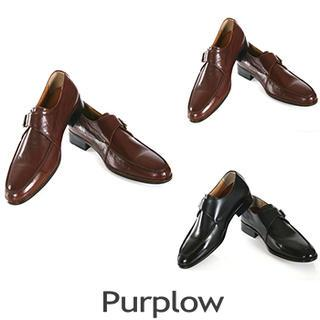 Genuine Leather Buckled Loafers