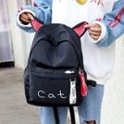 Cat Ear Nylon Backpack