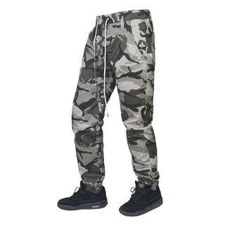 Camo Print Straight-cut Pants