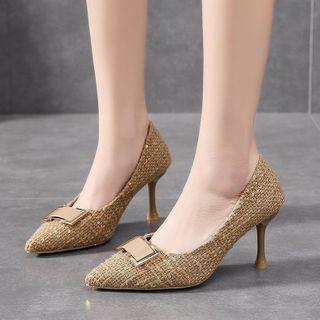 Pointed Flared Heel Flats