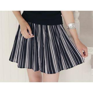 Striped A-line Shorts