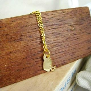 Gold Little Chick Short Necklace Gold - One Size