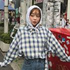 Detachable-hood Plaid Shirt With Strap