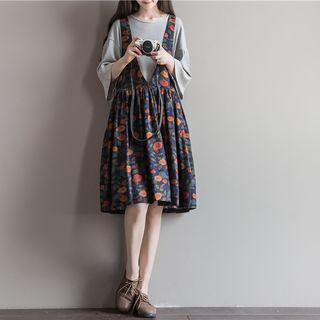 Floral Suspender Dress