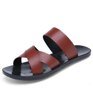 Cross Strap Slide Sandals