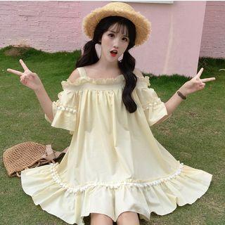 Cold-shoulder Mini Dress