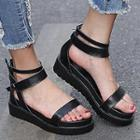 Genuine Leather Platform Sandals