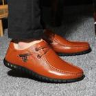 Genuine-leather Studded Loafers
