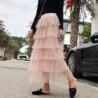 Maxi Mesh Layered Skirt