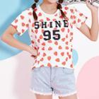 Short-sleeve Strawberry-print T-shirt