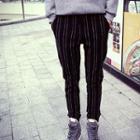 Striped Cuff Gather Pants