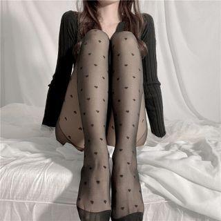 Heart Tights Black - One Size