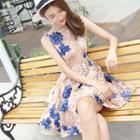Rosette Sleeveless A-line Dress