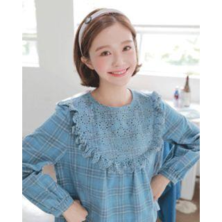 Buckle Houndstooth Wide Hair Band