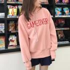 Lettering Loose-fit Hooded Sweatshirt