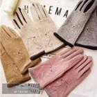 Bear Print Touchscreen Gloves