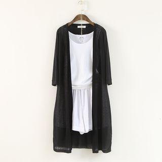 3/4 Sleeve Long Light Jacket