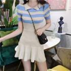 Pobblebonk Striped Polo Shirt