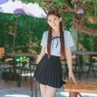 Shirt / Pleated Skirt