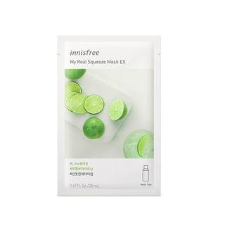 Innisfree - My Real Squeeze Mask Ex - 14 Types Lime