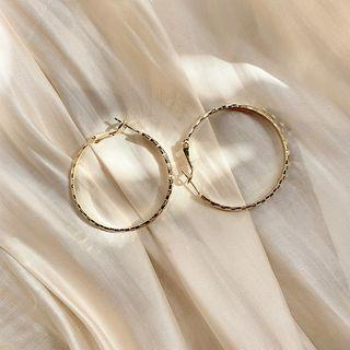 Ring Earring 1 Pair - Gold - One Size