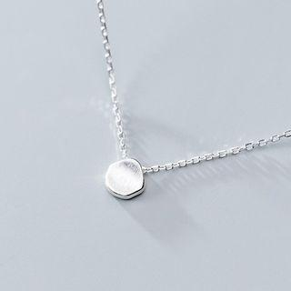 925 Sterling Silver Disc Pendant Necklace Necklace - One Size