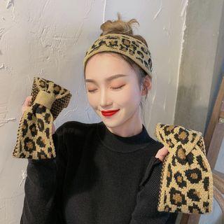 Leopard-print Knit Headband