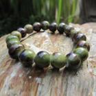 Ceramic Bead Bracelet Green - One Size