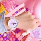 Animal Print Silicone Strap Watch