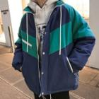 Loose-fit Colorblock Padded Jacket