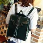 Studded Tasseled Backpack
