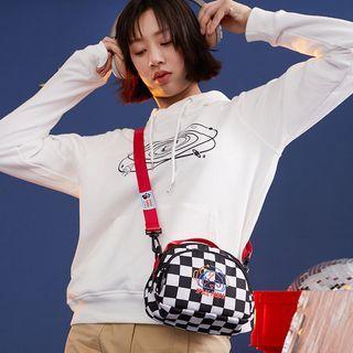 Embroidered Nylon Crossbody Bag