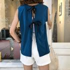 Bow Back Sleeveless Top