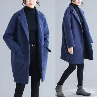 Single Button Oversized Coat