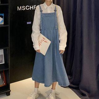 Midi Jumper Dress Blue - One Size