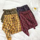 Irregular Plaid Skirt