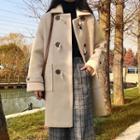 Furry Collar Toggle Coat