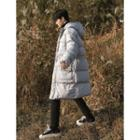 Oversized Hooded Padded Long Jacket
